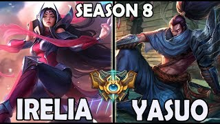 FAKER plays IRELIA vs A KOREAN YASUO - Ranked Challenger