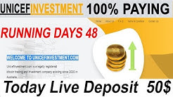 UNICEFINVESTMENT || BEST BITCOIN INVESTMENT HYIP SITE 2020 || EARN 3% PROFIT DAILY FOR 5 DAYS