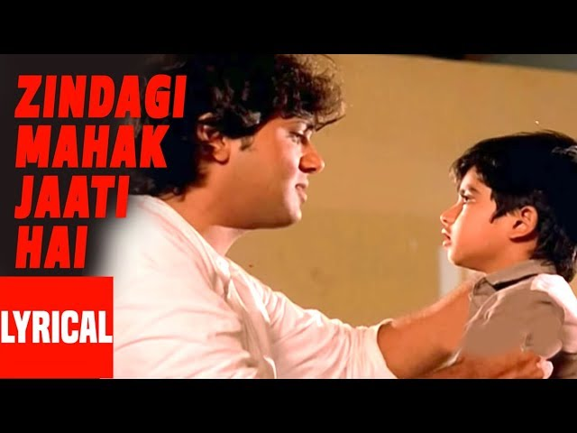 Zindagi Mahak Jaati Hai Lyrical Video | Hatya | Lata Mangeshkar, K.J. Yesudas | Govinda