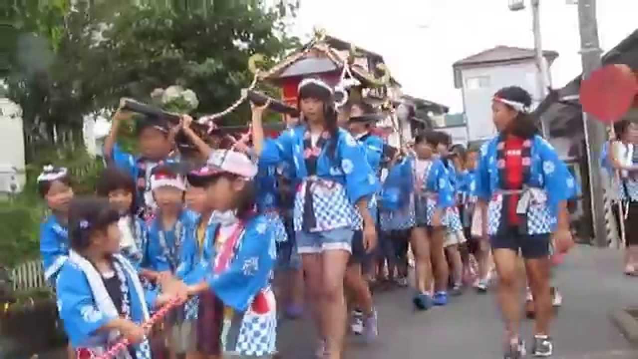 子供みこし 2015.7.25安居山2区納涼祭「子どもみこし」区民館をスタート