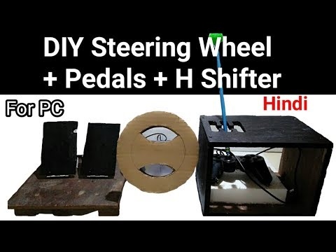 DIY Steering Wheel + Pedals & H Shifter For PC