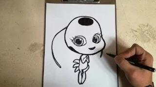 COMO DIBUJAR A TIKKI LADY BUG / how to draw tikki - lady bug
