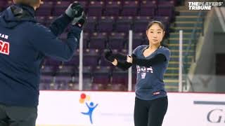 Mirai nagasu training for Olympics 2018