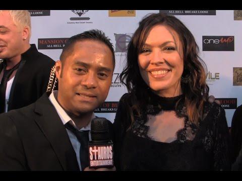 MICHELLE TOMLINSON w TYRONE TANN Golden Halo Awards Mansion of Blood Premiere