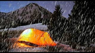 Sleep Sound of Rain on tent Sounds to fall asleep to Fast English Weather relaxation noises