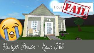 Roblox Bloxburg   Budget House FAIL [Speed Build]