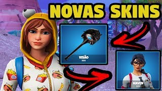 FORTNITE-NEW SKINS cast, WOMEN'S SKIN SET NVIDIA, picks and PARACHUTE for CHRISTMAS