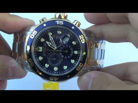 6d0a8db9d Invicta Watch Men's 0077 Scuba Pro Diver Collection Chronograph - YouTube