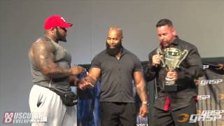 Ronnie Coleman Classic | CT Fletcher received award.