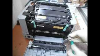 Samsung CLP-310/315/320/325: how to remove transfer-belt drum and fuser