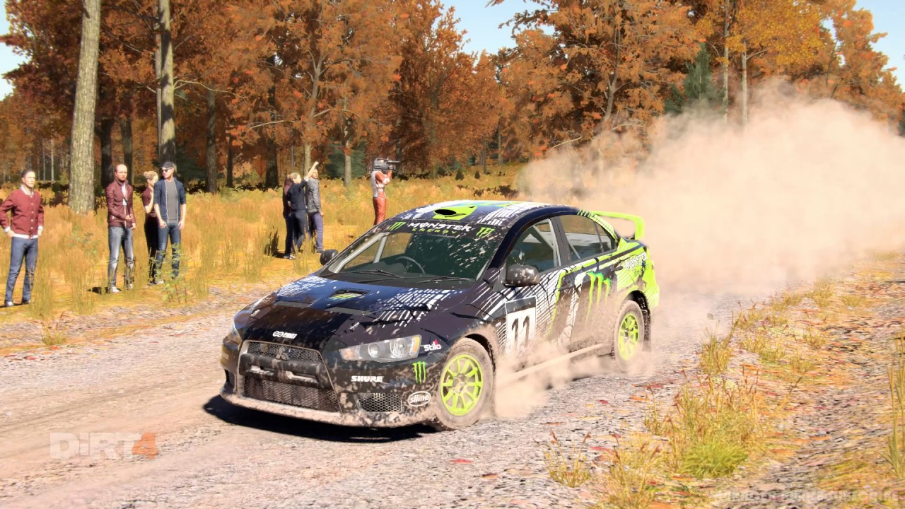 DIRT 4   Flat Out In The WRC Monster Energy Lancer Evo X