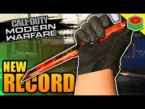 HIGHEST Kill Game With A KNIFE!? | Call Of Duty: Modern Warfare