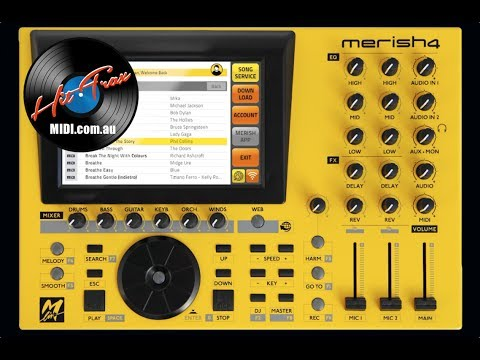 Merish 4 MIDI File & MP3 Backing Track Player