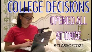 waited for ALL my IVIES/UCs then opened them all AT ONCE (College Decisions 2018) thumbnail