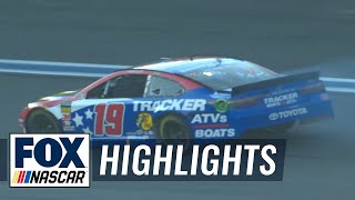Leader Martin Truex Jr. hits the wall early in the Coca-Cola 600 | NASCAR on FOX HIGHLIGHTS