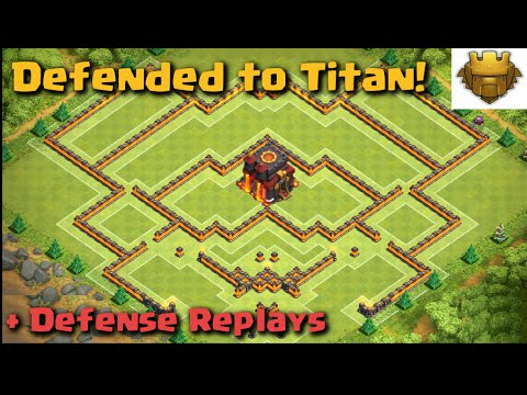 Clash of Clans - WORLD'S BEST BASE! Defended to Titan! | Build + Replays