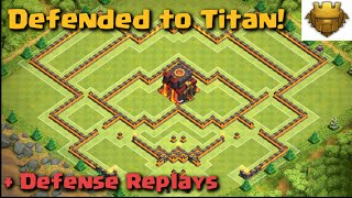 Clash of Clans - WORLD'S BEST BASE! Defended to Titan!   Build + Replays