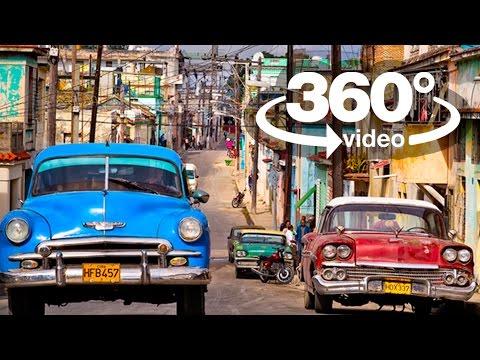 Habana Cuba: video 360 grados, visita virtual en carro y almendron camera car 360
