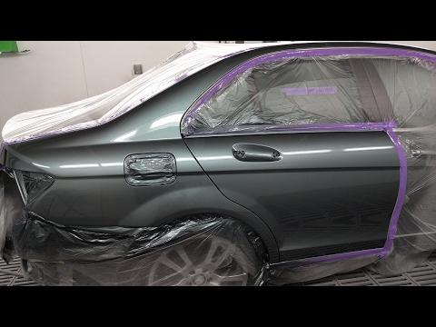 C250 Mercedes Benz: Spray Painting