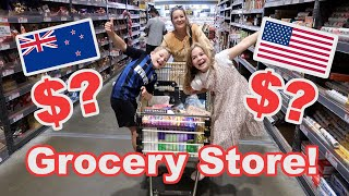 NZ vs USA Grocery Store Trip!! Cost of Living New Zealand Series
