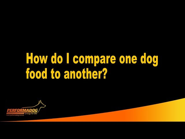 How do I compare one dog & cat food to another?