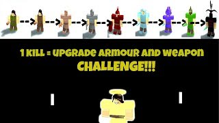 *1 Kill = 1 Weapon and Armour UPGRADE!* (Weapon/Armour CHALLENGE) | ROBLOX BOOGA BOOGA