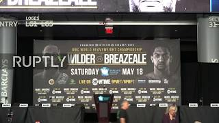 LIVE: Press conference ahead of Wilder vs Breazeale heavyweight title fight in NYC