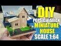 Popsicle Stick Miniature House // DIY FULL TUTORIAL
