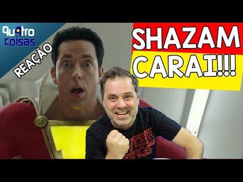 ⚡ CHOREI COM O TRAILER DO SHAZAM! React e Comentários (Qu4tro Coisas)