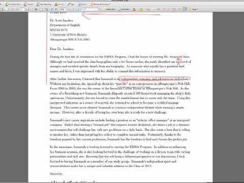 Letter of Introduction Assignment: UNM EMBA