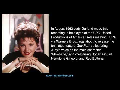 """Judy Garland - Previously Unreleased - """"Gay Purr-ee"""" Sales Recording"""