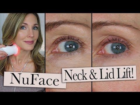 nuface-trinity-ele-+-wrinkle-reducer-review-~-eyelid-lift-+-neck-wrinkles!