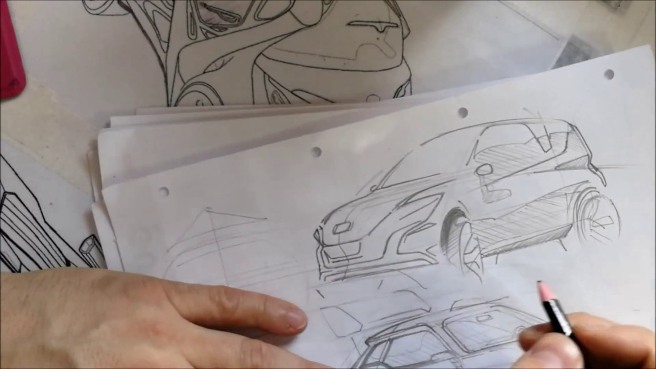 STYSON DESIGN CAR DESIGN SKETCHING FREESTYLE 3 Compact car wlmp ...