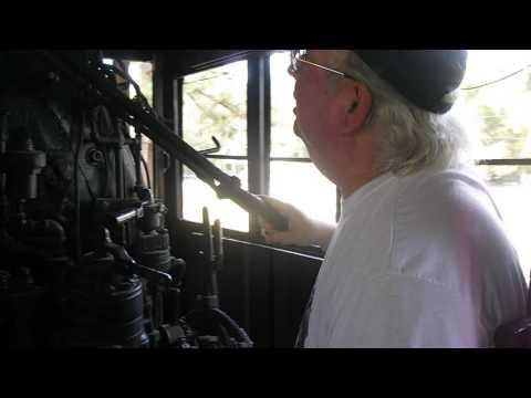St Marys railroad museum on the road Waycross Georgia Baldwin 1912 steam locomotive (pt 1)