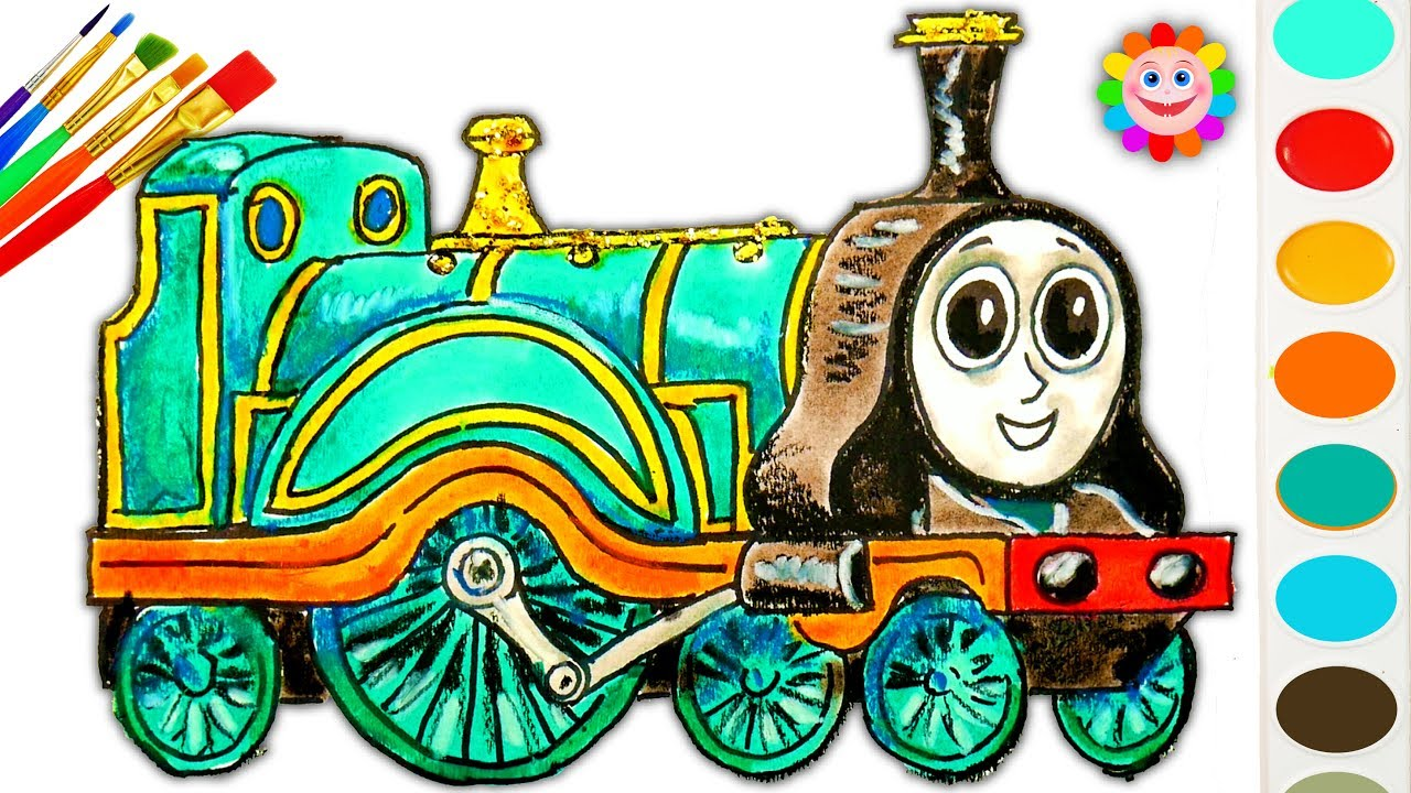 coloring thomas and friends how to draw emily thomas train