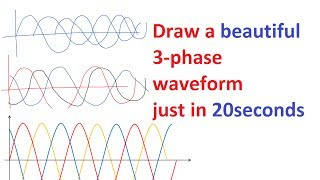Easy and best way to draw a 3-phase waveform | PiSquare Academy