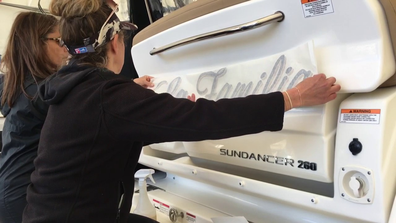 How To Install Boat Lettering