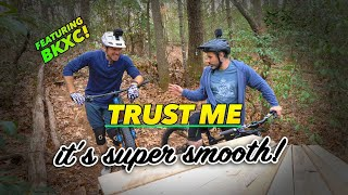 What will happen when Brian rides my backyard trails for the first time?