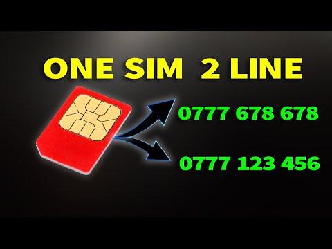 Dialog One SIM Dual Line ( 1  sim 2 numbers )