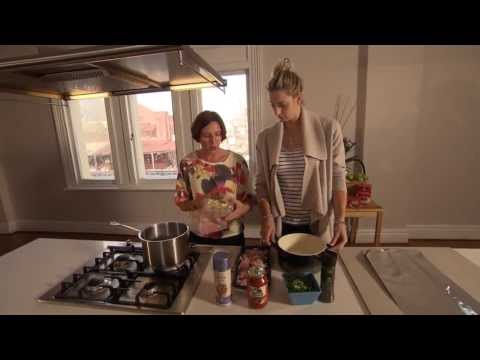 Baked Chicken and Mushroom Ravioli featuring Kerry Leech and Laura Geitz