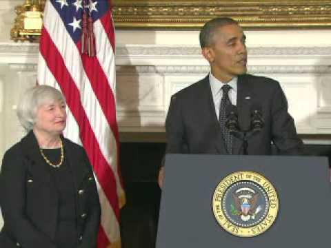 Obama officialise la nomination de Yellen à la tête de la Fed