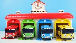 玩 小巴士TAYO  巴士站  跑跑小巴士TAYO 玩具開箱