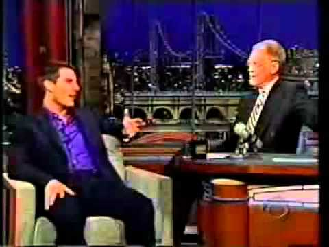 Tom Cruise madly cracking on Late Night David Letterman show