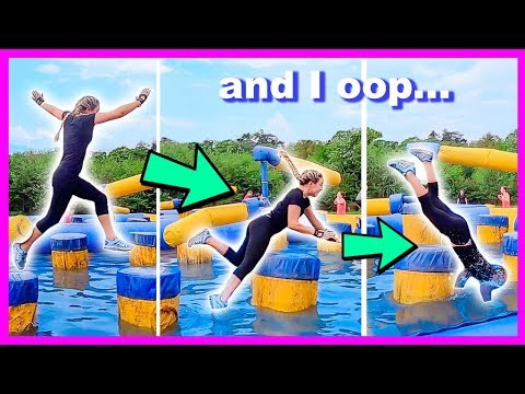 The Funniest FAIL On A Total Wipeout Challenge Style Course!! Disaster :')
