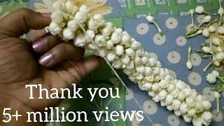 How to string Nandiavattam flower garland???