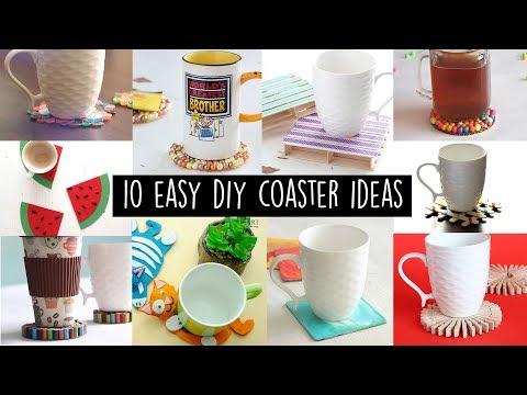 10 Easy DIY Coaster Ideas