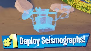 Deploy Seismographs in Miṡty Meadows or Catty Corner Location - Fortnite