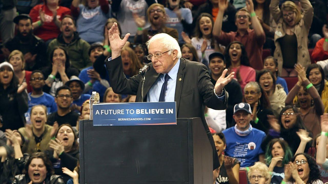 Bernie Sanders Put A Bird On It At Portland Rally Youtube