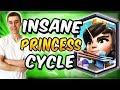 INSANE PRINCESS CYCLE DECK! Fast Cycle Bait Deck — Clash Royale