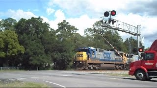 CSX Train Crossing Gates Delayed Going Down